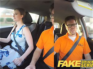 fake Driving college Nerdy ginger-haired teenager college girl