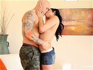 Charley pursue gives Derrick her pink pucker