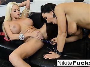 steaming Russian Nikita Von James nails pornography vet Lisa Ann