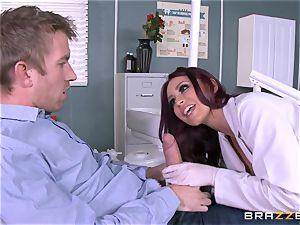 yummy dentist Monique Alexander inhales patients ample prick
