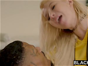 BLACKED nubile thigh jump star Cant concentrate Until She Gets big black cock