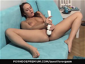 QUEST FOR ejaculation - luxurious Blue Angel solo masturbation