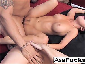 Asa and Dana team up for a super hot 3 way with Derrick