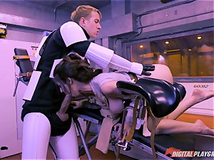 Stella Cox cunt bashed by a space agent