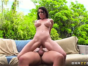 huge-titted rich girl Jessica Jaymes exploits her subjugated and takes his humungous man-meat