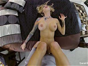 huge-chested pornstar Sarah drills