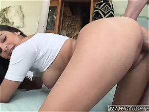 daddy observes chum compeer s daughter wank and daddy smashes rock hard Nina North pulverizes