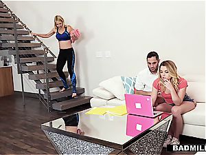 Sarah Vandella pulverizes her stepson and his gf