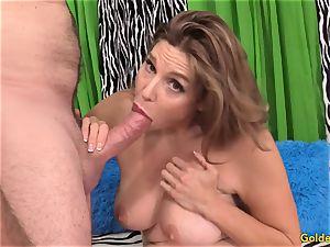 stunning mature dame takes cock
