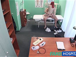 FakeHospital lovely sandy-haired rides physician for cash
