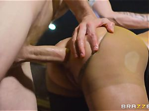 oiled up Cathy Heaven getting bootie ravaged