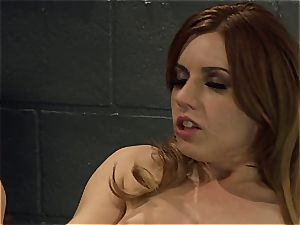 Lexi Belle and Misty Dawn doing a jail display